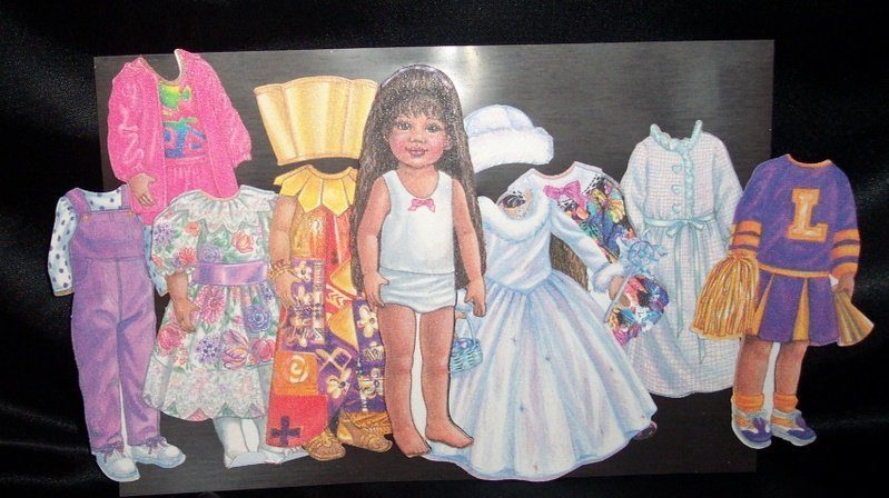 Tonner Magic Attic Keisha Magnetic Cloth Paper Dolls